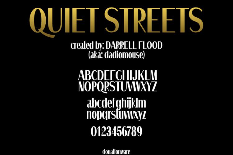 Quiet Streets Font
