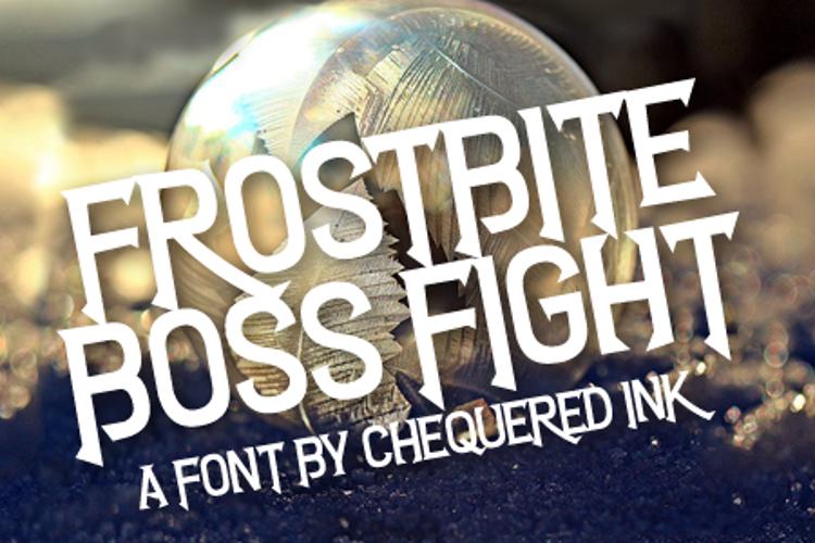 Frostbite Boss Fight Font