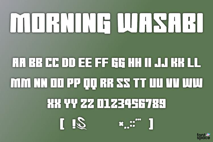 Morning Wasabi Font