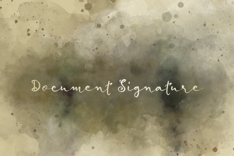 d Document Signature Font