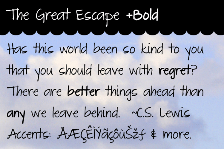 The Great Escape Font