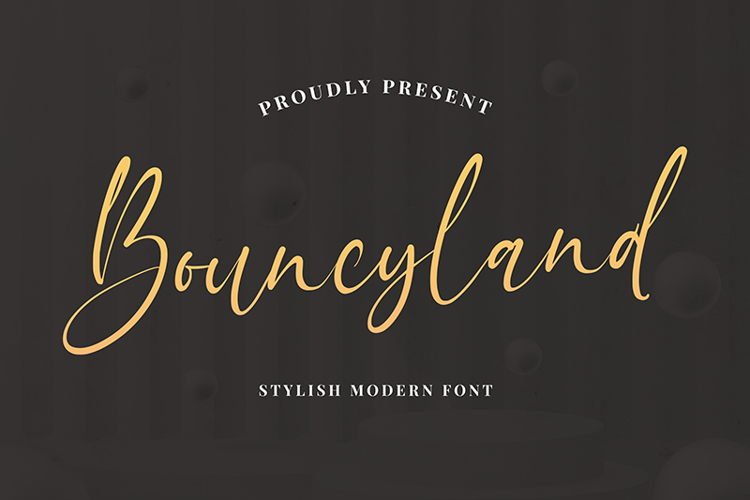 Bouncyland Font