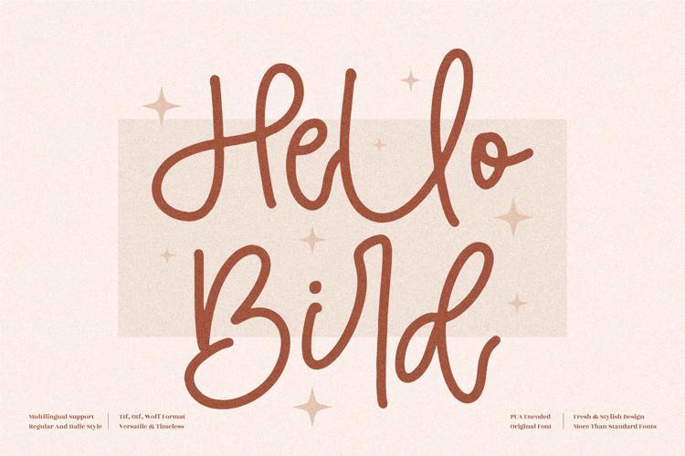 Hello Bird Font