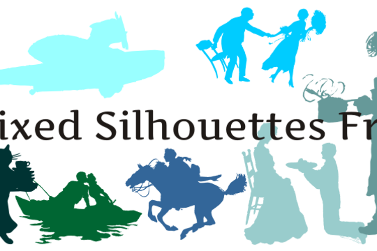 Mixed Silhouettes Free Font