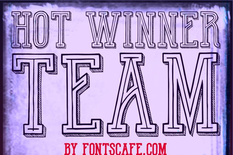 Hot Winner Team DEMO Font