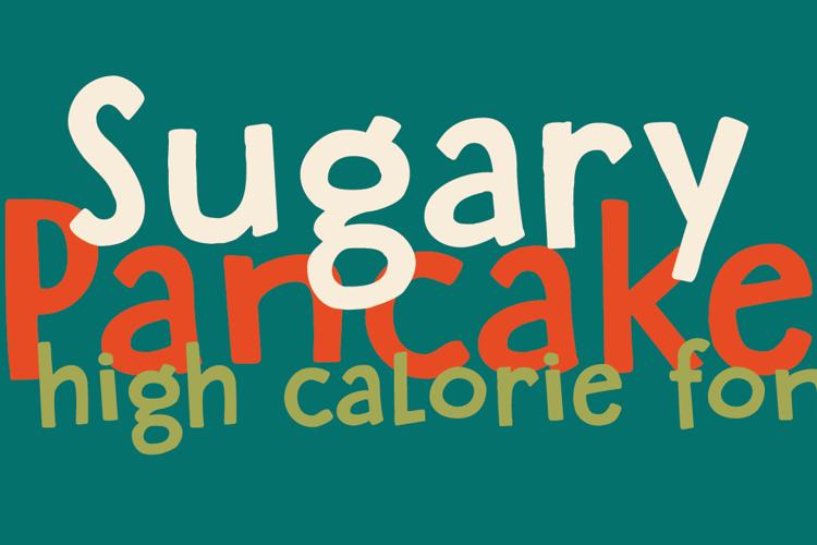 DK Sugary Pancake Font