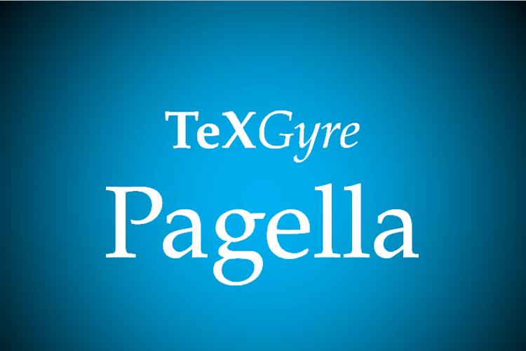 TeXGyrePagella Font