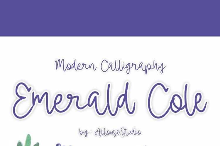 Emerald Cole Font