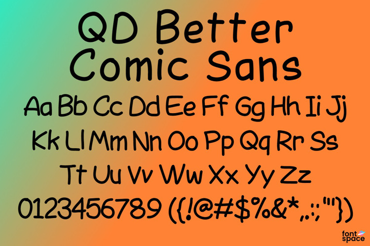 QD Better Comic Sans Font