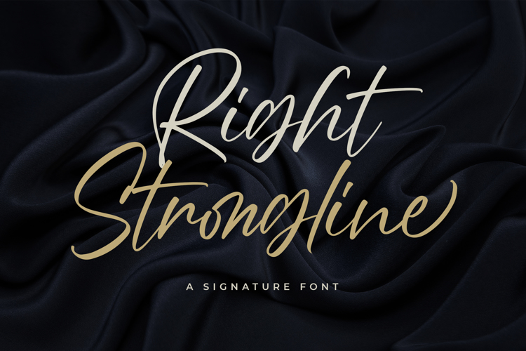 Right Strongline Font