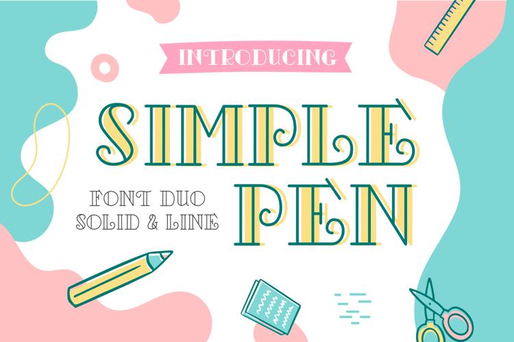 Simple Pen Solid Font
