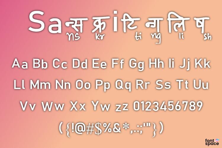 Sanskritinglish Font