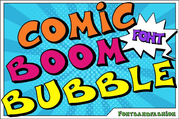 Comic Boom Bubble Font