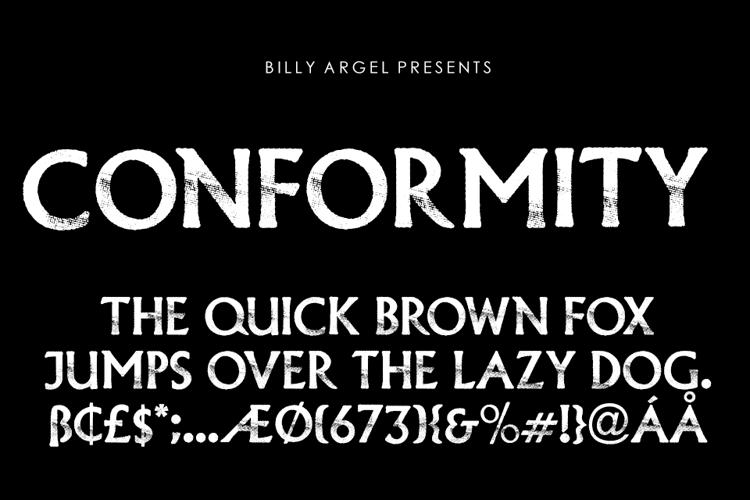 CONFORMITY Font