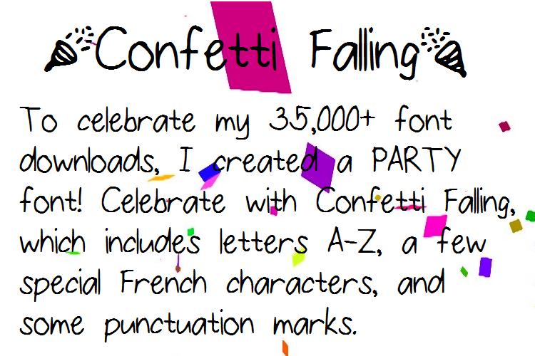 ConfettiFalling Font