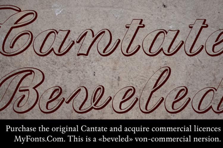 Cantate Beveled Font