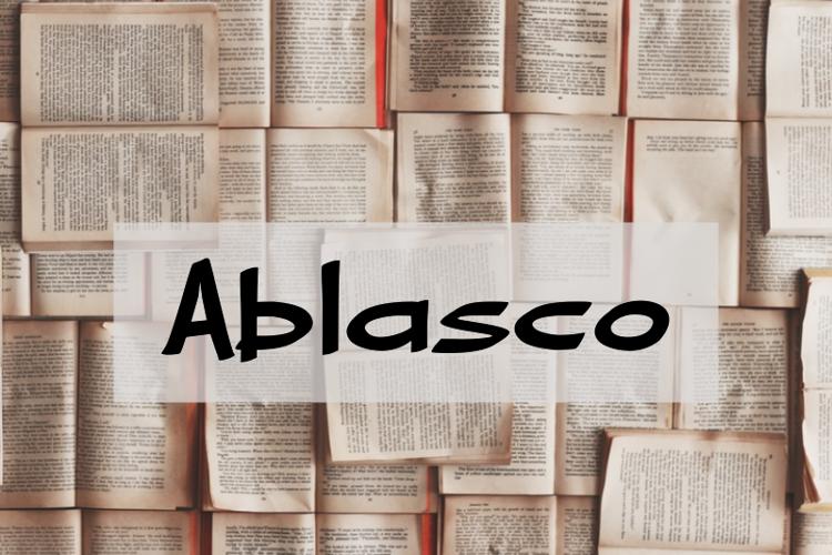 a Ablasco Font