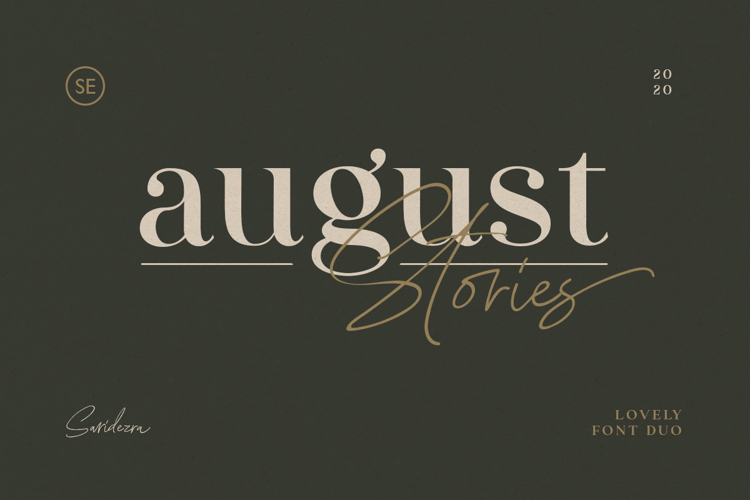 August Stories Font