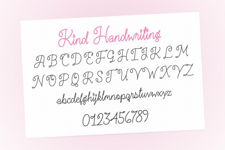 Kind Handwriting Font