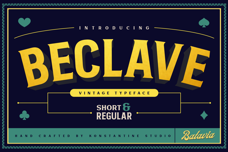 Beclave Bold Font