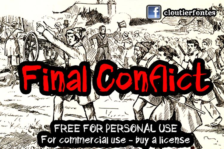 CF Final Conflict Font