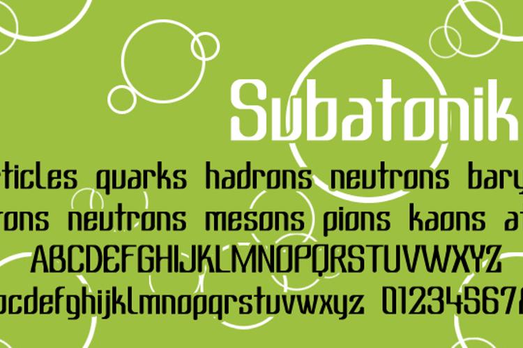 Subatonik Font