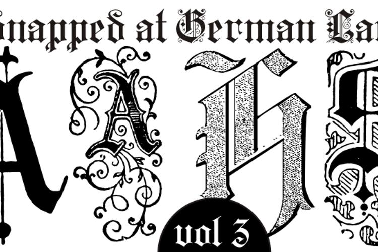 Kidnapped at German Lands Three Font