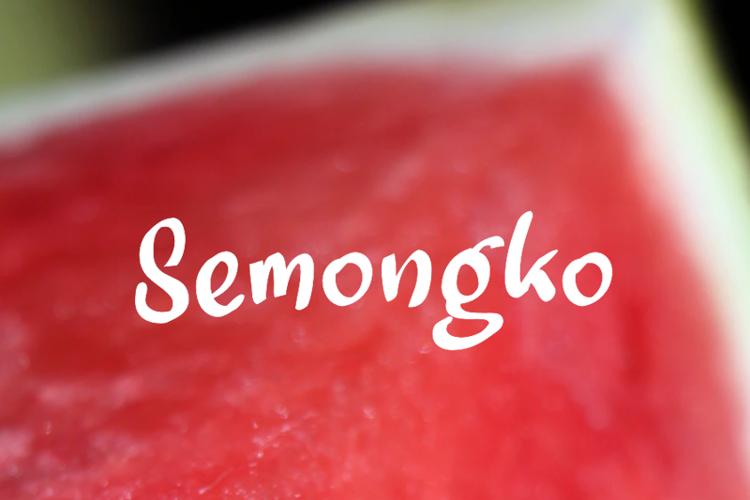a Semongko Font