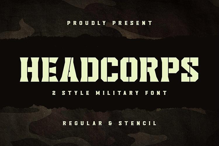 Headcorps Stencil Font