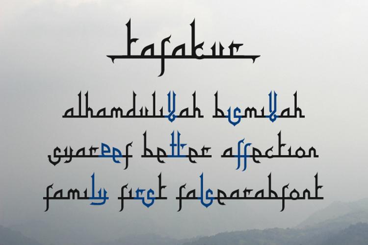 Tafakur Font