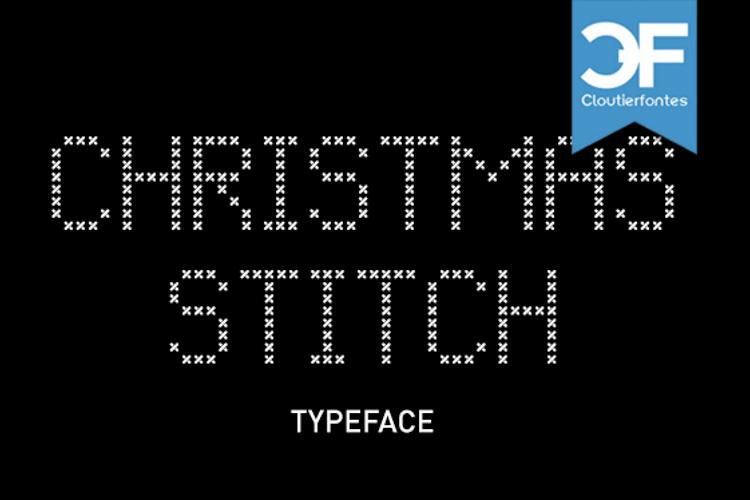 CF Christmas Stitch Font
