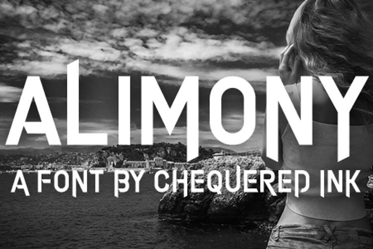 Alimony Font