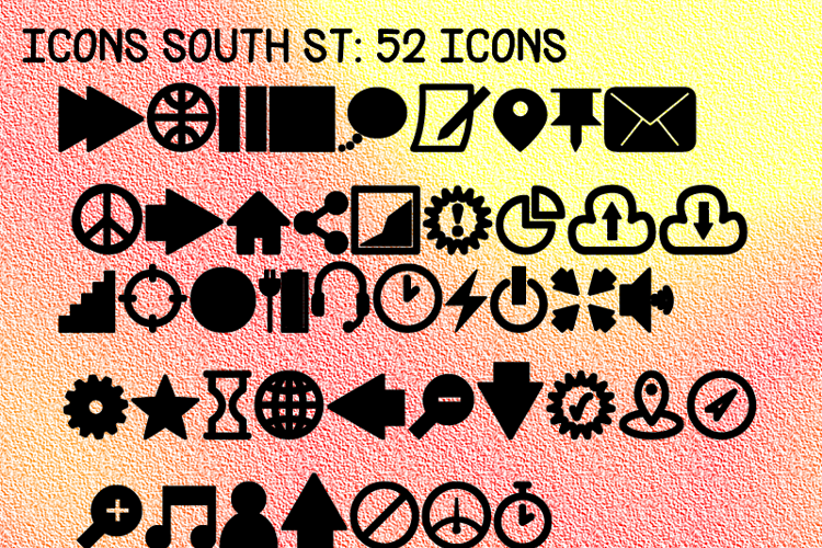 Icons South St Font