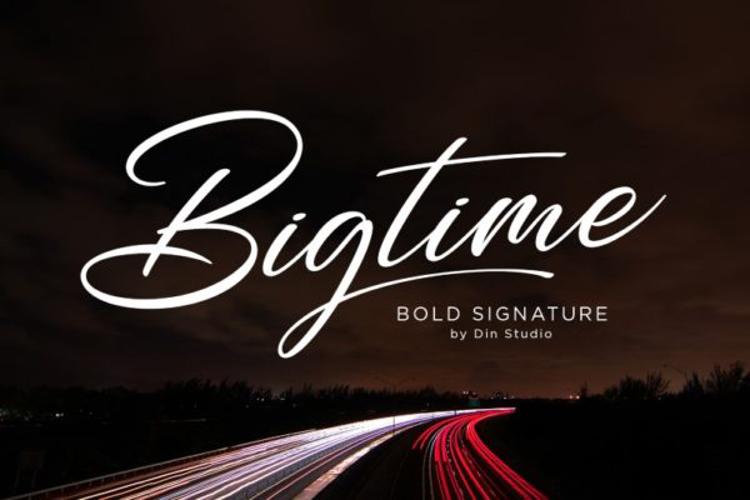 Bigtime Font