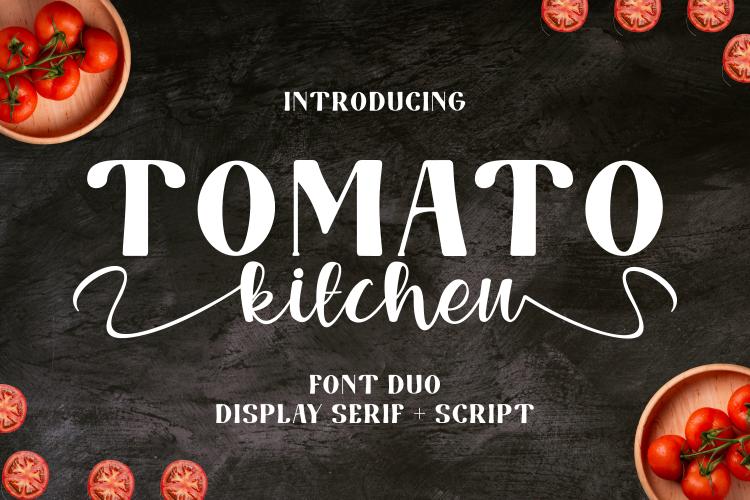 Tomato Kitchen Display Font