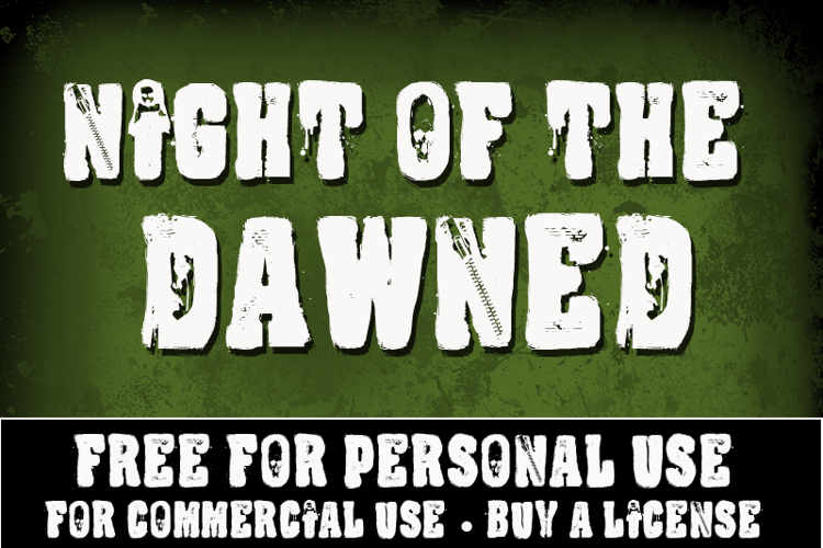 CF Night Of The Damned Font