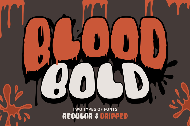 Blood Bold Driped Font