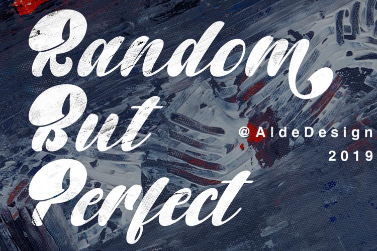Random But Perfect Font