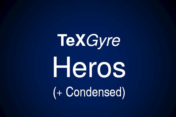 TeXGyreHeros Font