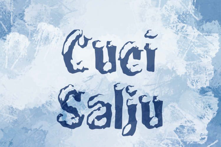 c Cuci Salju Font