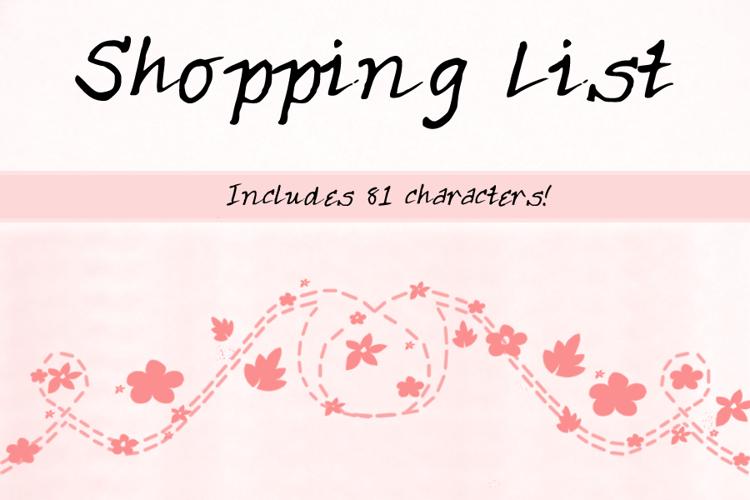 ShoppingList Font