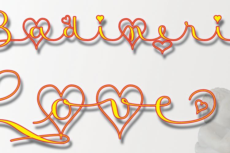 Badinerie Love Font