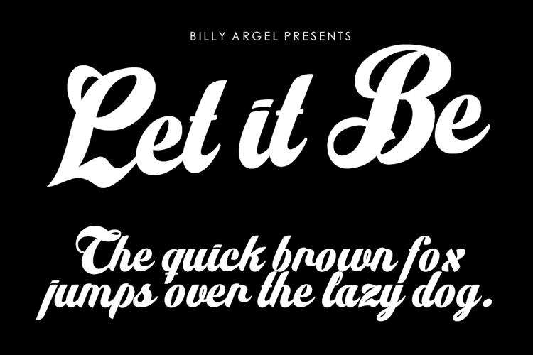 Let it Be Font