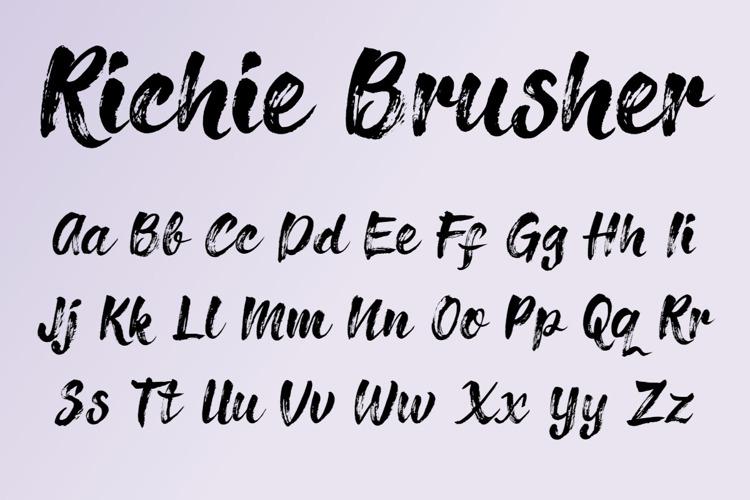 Richie Brusher Font