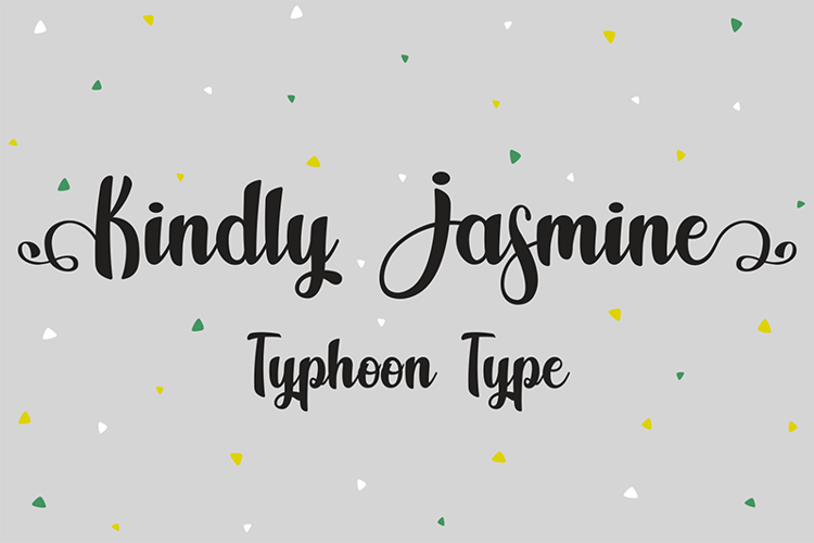 Kindly Jasmine Font