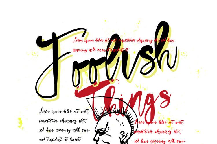 Vtks Foolish Things Font