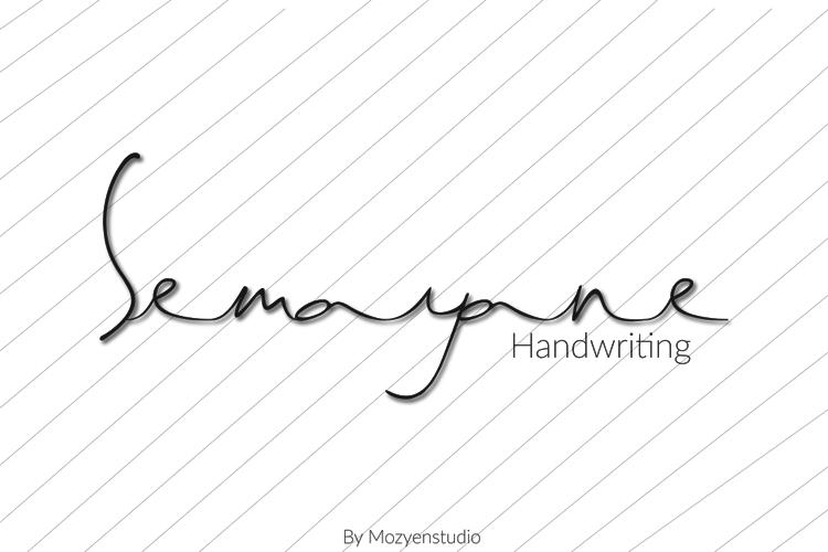 Semayane Handwriting Font