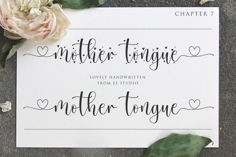 Mother Tongue Font