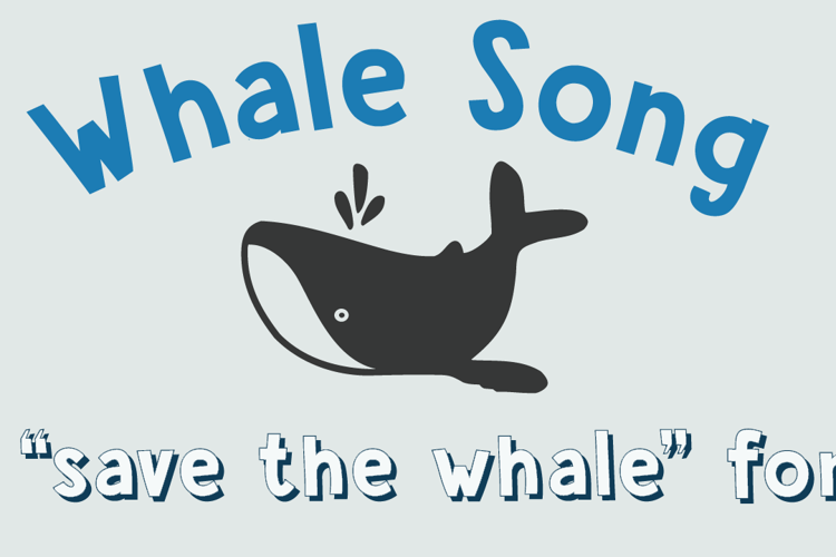 DK Whale Song Font