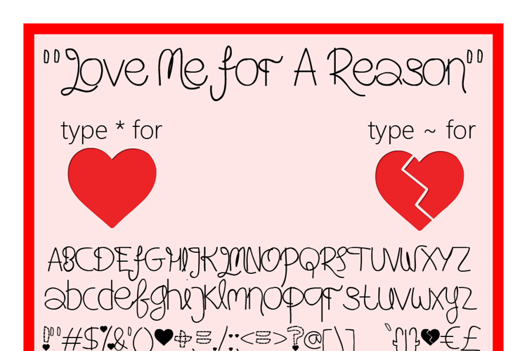 Love Me For A Reason Font